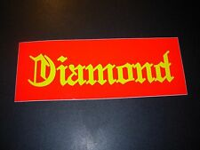 "DIAMOND SUPPLY CO 8"" Red Yello Skate Sticker Font Logo skateboards helmets decal"