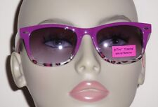 Betsey Johnson Women's Purple & Cheetah Print 100% UV Plastic Sunglasses