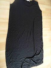 NOOK langes Jerseykleid Rippenstrickoptik schwarz Gr. 2 TOP (HMI 514)