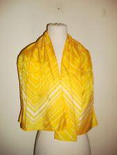 Glentex scarf Head belt wrap Diamond cut shape white bright yellow color New