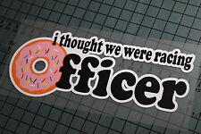 OFFICER Sticker Decal Vinyl JDM Euro Drift Lowered illest Fatlace