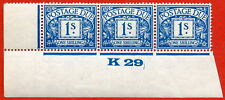"SG. D17. R17. 1/- deep blue. A superb UNMOUNTED MINT "" control K29 imperf ""."