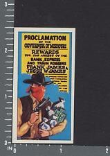 Jesse James - Wagon Wheels Wild West Action cigarette type card #24