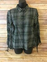 Buffalo by David Bitton Flannel Shirt Size Small Long Sleeve Plaid Button Front