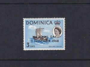 Dominica - 1968 - National Day - SG 234 - 3c - Sailing Canoe - MLH 2132
