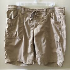 The North Face Women's Shorts Khaki Drawstring Hiking Camping Walking Size 14