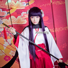 Inu x Boku SS Shirakiin Ririchiyo Cosplay Perücke Halloween Lila&Schwarz Kostüm