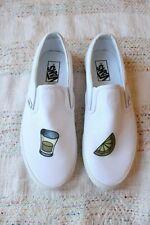 NIB Rare Vans White Mi Campo Tequila Classic Slip On Sneakers Size 9.5 Men's