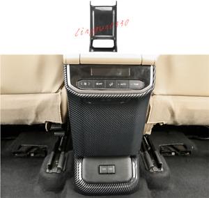 Carbon Fiber Rear Center Console Cover Trim For Toyota Highlander 2020-2022