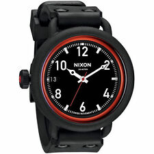 NIXON Men's OCTOBER Wrist Watch - A488 760 - ALL BLACK / RED - NWT