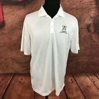 Nike Golf Mens Tour Performance Dri Fit White Polo Shirt Size Large