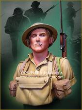 Joven minutos británico Tommy soldado el Alamein Segunda Guerra Mundial YM1859 1/10th Busto Sin Pintar Kit