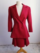 Authentic Karl Lagerfeld of Chanel Maroon Suit made in France size 38