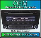 SKODA swing CD MP3 Player, Yeti radio de coche unidad central, suministrado con