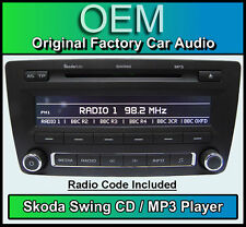Skoda Swing CD MP3 player, Octavia car stereo headunit, Supplied with radio code