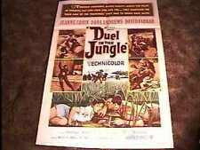 DUEL IN THE JUNGLE MOVIE POSTER '54 AFRICA DANA ANDREWS