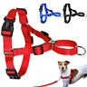 Nylon No Pull Soft Adjustable Dog Harness Vest  No Choke for Dog Training Red L