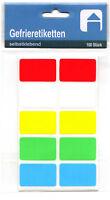 Gefrieretiketten Tiefkühletiketten Etiketten Gefrier Tiefkühl farbig sortiert