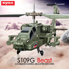 Syma S109G 3ch Mini Apache Remote Control LED Light RC Helicopter With Gyro