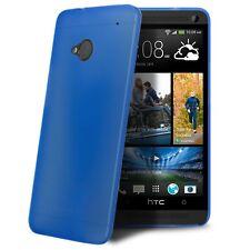 Coque Housse Etui Translucide Ultra Fine 0.3mm Pour HTC One (M7) Bleue