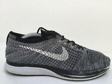 Nike Flyknit Racer 8526628-005 Grey Knit Sports Trainers Mens Size UK 8.5 Eur 43