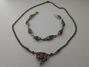 lotto x Bracciale collana in argento Vintage lot x  Silver bracelet chain D20