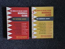 Barnes Book of Major League Baseball Clubs - National and American League 2 Vols
