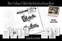 "Atlas/Craftsman 6"" Metal Lathe 618 & 101.07301 Service Manual and Parts Lists"