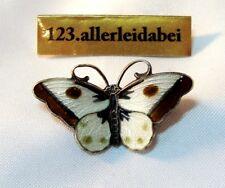 Rar Hroar Prydz Emaille Schmetterling Brosche Silber Norwegen emalliert / BI 420