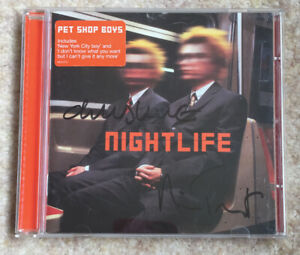 Pet Shop Boys SIGNED CD Nightlife genuine authentic album Original Lowe Tennant