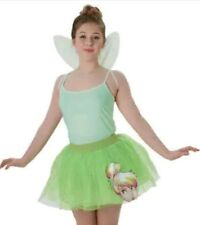 NEW DISNEY TINKER BELL FAIRY TUTU SKIRT & WINGS SIZE SMALL 10-12 ACCESSORIES £9
