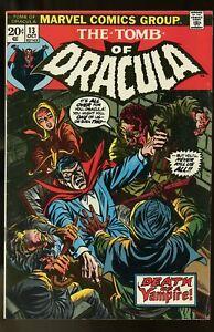 TOMB DRACULA #13 VERY GOOD / FINE 5.0 BLADE 1973 MARVEL COMICS