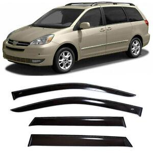 For Toyota Sienna II 2003-2010 Side Window Visors Sun Rain Guard Vent Deflectors