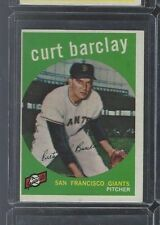 1959 TOPPS #307 CURT BARCLAY  EX-EX/MT