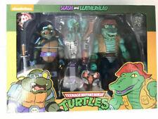 NECA TMNT Teenage Mutant Ninja Turtles & Slash Leatherhead 2 Set Action Figure
