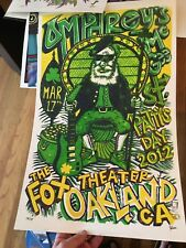 umphrey's mcgee Oakland 2012 Poster By Jim Pollock Fox Theater LE Mint