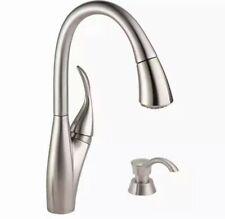 Delta Berkley Kitchen Faucet Single Handle w/ Soap Dispenser Stainless Steel OB