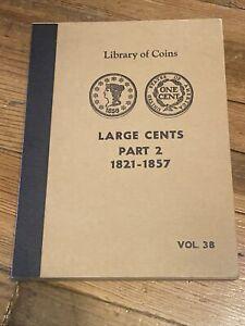X RARE VINTAGE LIBRARY COINS LARGE CENT PART ALBUM  PART. 2 1821-1857