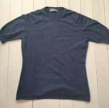 Womans Cashmere Jumper | Size L 12 14 16 | Johnstons Of Elgin | Blue |