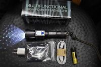 Flashlight 5000 LM LED XM-L2 USA Military Torch Tactical Zoom 2 BATTERIES 26650