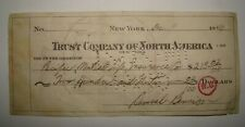 1940 Trust Company of North America Cheque Check Bank Stamp Tampa Florida