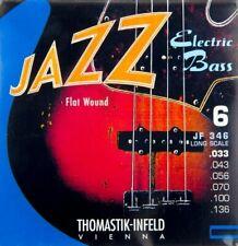 Thomastik-Infeld 6 Cuerdas Jazz Bass 33-136 Cuerdas bajo eléctrico de la herida plana