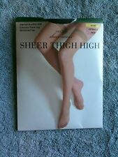 JC Penney East 5th Avenue Sheer Caress Hose Sheer Thigh High Nylons Off Black