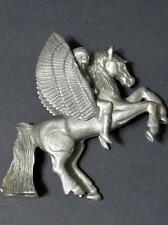 "1989 Masterworks Fine Pewter 4"" Pegasus Statue Usa"