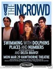 We Are The In Crowd / Swimming With Dolphins 2010 Portland Concert Tour Poster