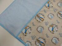 Peter Rabbit Blanket Bassinet Pram Crib 90cm x77cm Minkee Fleece Back Handmade