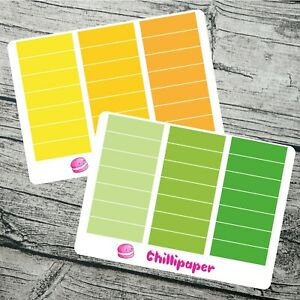 Blank header stickers measure 1.5 inches x 10mm blanks Bujo stickers, #1120