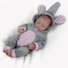 10''Full Body Silicone Vinyl Handmade Reborn Sleeping Baby Doll Newborn Lifelike