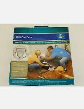 PetSafe Big Cat Small Dog Door 4-Way Locking White Interior/Exterior Hpa11-10888