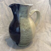 Vintage Studio Pottery Rustic Brown - Water jug / vase - fluted spout
